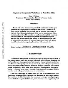 Magnetohydrodynamic Turbulence in Accretion Disks
