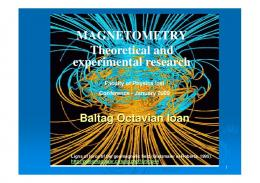 MAGNETOMETRY Theoretical and experimental