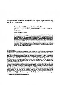 Magnetoresistance and Hall effect in e-doped superconducting ...