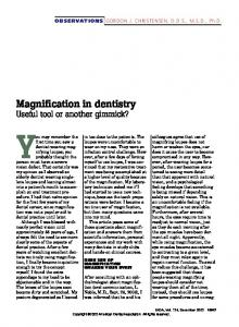 Magnification in dentistry