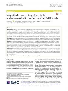 Magnitude processing of symbolic and non-symbolic proportions: an ...