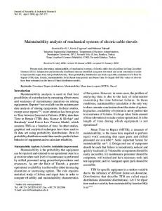 Maintainability analysis of mechanical systems of electric ... - NOPR