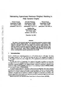 Maintaining Approximate Maximum Weighted Matching in Fully ...