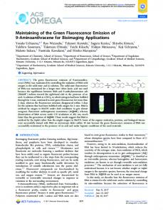 Maintaining of the Green Fluorescence Emission of ... - ACS Publications
