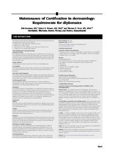 Maintenance of Certification in dermatology: Requirements for ...
