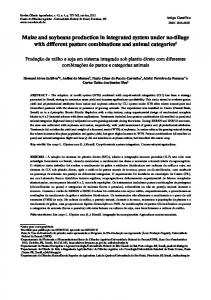 Maize and soybeans production in integrated system under ... - Scielo.br