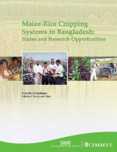 Maize-Rice Cropping Systems in Bangladesh - AgEcon Search