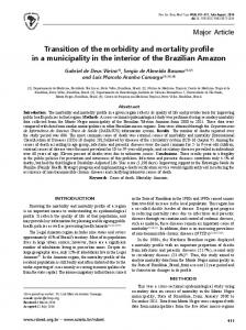 Major Article Transition of the morbidity and mortality profile ... - SciELO