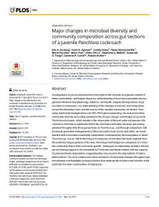 Major changes in microbial diversity and community ... - PLOS
