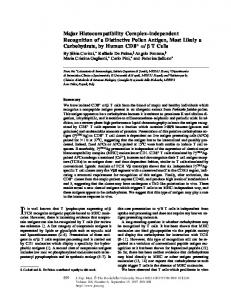 Major Histocompatibility Complex–independent ... - BioMedSearch