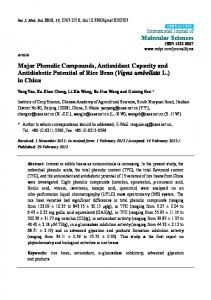 Major Phenolic Compounds, Antioxidant Capacity and ... - CiteSeerX