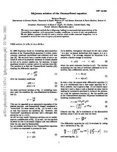 Majorana solution of the Thomas-Fermi equation