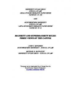 majority and supermajority rules: three views of the ... - SSRN papers