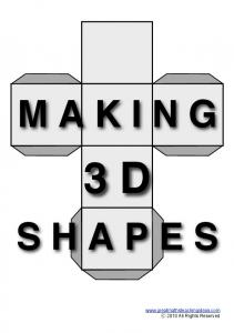 Make 3D Shapes - Great Maths Teaching Ideas