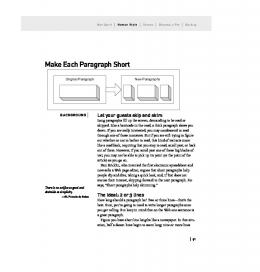 Make Each Paragraph Short - Web Writing that Works