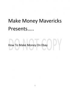 Make Money Mavericks On Ebay - WordPress.com