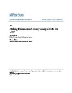 Making Information Security Acceptable to the User - Research Online