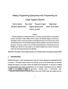 Making Programming Synonymous with Programming for ... - CiteSeerX