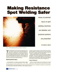 Making Resistance Spot Welding Safer