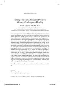 Making Sense of Adolescent Decision- Making ...