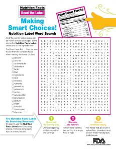 Making Smart Choices! - Food and Drug Administration