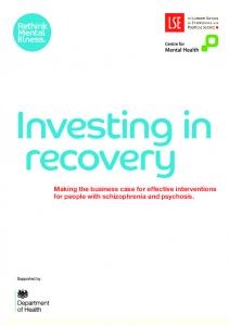 Making the business case for effective interventions for people with ...