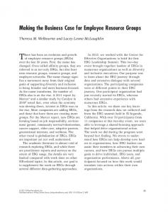 Making the Business Case for Employee ... - Wiley Online Library