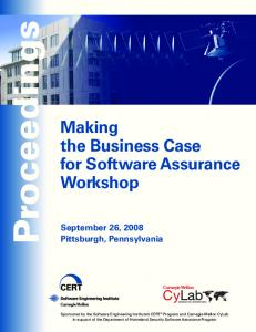 Making the Business Case for Software Assurance ...