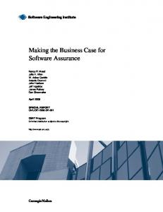 Making the Business Case for Software Assurance - SEI Digital Library