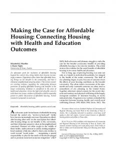Making the Case for Affordable Housing: Connecting ... - City of Houston