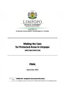 Making the Case for Protected Areas in Limpopo FINAL