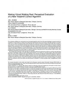 Making virtual walking real - Max Planck Institute for Biological ...