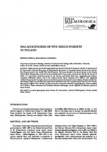 MALACOCENOSES OF FIVE BEECH FORESTS IN POLAND