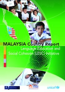 MALAYSIA Country Report - Unicef