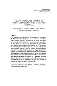 malaysian film industry in transformation: challenges and potential