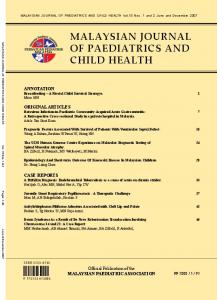 malaysian journal of paediatrics and child health
