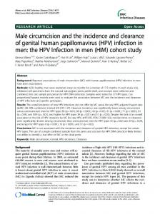 Male circumcision and the incidence and clearance of genital human ...