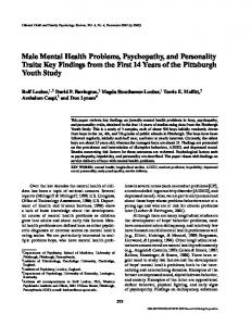 Male Mental Health Problems, Psychopathy, and ... - CiteSeerX