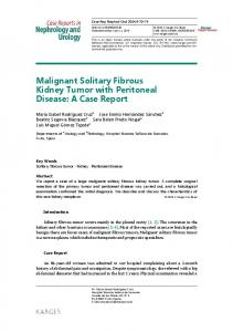 Malignant Solitary Fibrous Kidney Tumor with Peritoneal Disease: A