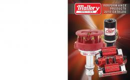 Mallory Ignition Systems Catalog