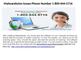 Malwarebytes Activation support phone number 1-800-644-5716