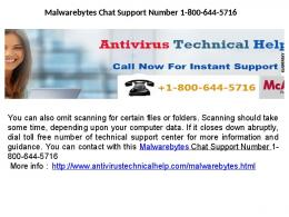 Malwarebytes Chat Support Phone Number 1-800-644-5716