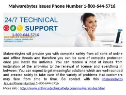 Malwarebytes Customer Service Number 1-800-644-5716