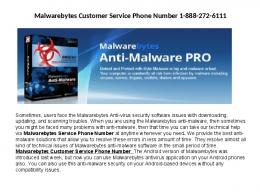 malwarebytes support help number