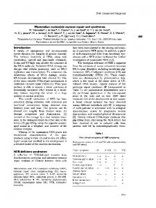 Mammalian nucleotide excision repair and syndromes - Biochemical ...