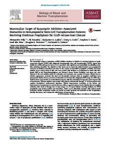 Mammalian Target of Rapamycin Inhibitor-Associated ... - Core