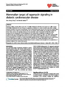 Mammalian target of rapamycin signaling in diabetic ... - BioMedSearch