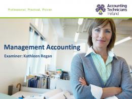 Management Accounting - Accounting Technicians Ireland