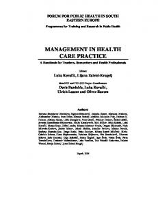 management in health care practice