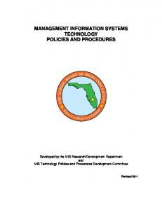 management information systems technology policies and procedures
